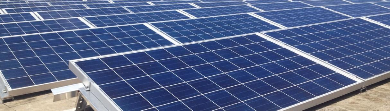 Våra solpaneler på taket