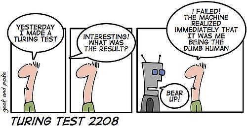 Turingtestet anses vara ett lackmustest för att bestämma om en Artificiell Intelligens